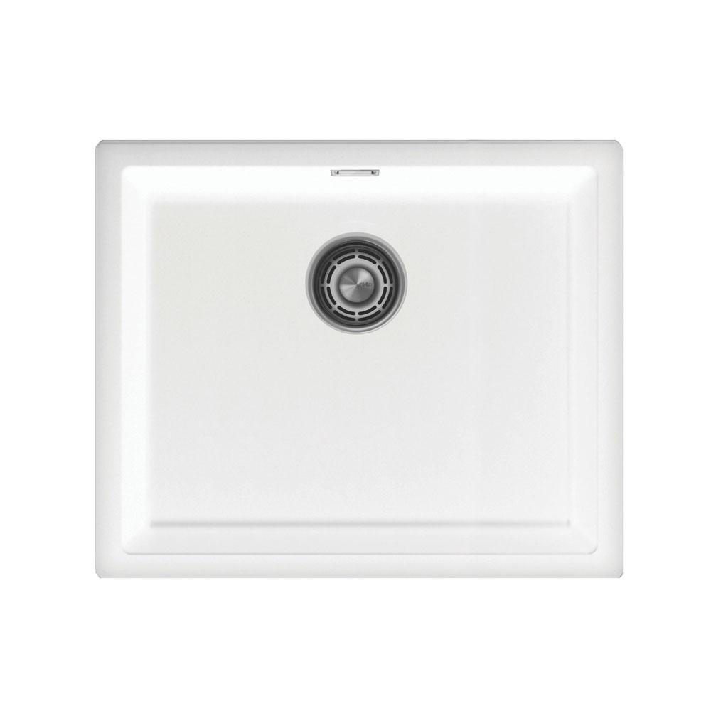 Basin Della Cucina Bianco - Nivito CU-500-GR-WH Strainer ∕ Waste Kit Color Brushed Steel
