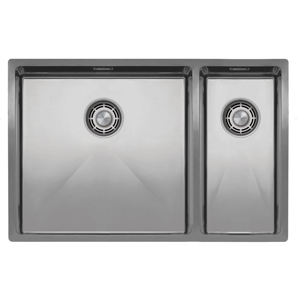 Basin Della Cucina Acciaio Inossidabile - Nivito CU-500-180-B Strainer ∕ Waste Kit Color Brushed Steel