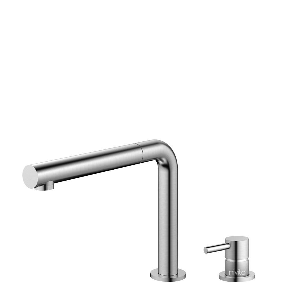 Miscelatore Cucina Acciaio Inossidabile Tubo estraibile / Corpo/Tubature Separate - Nivito RH-600-VI