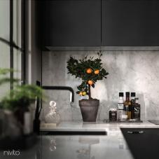 Nero cucina acqua miscelatore
