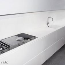 Satinato acciaio acqua miscelatore