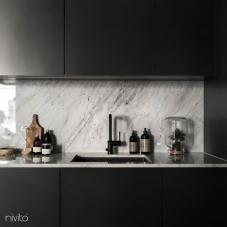 Nero cucina rubinetteria