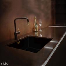 Rubinetto Cucina Oro/Dorato/Ottone Nero/Dorato/Bronzo - Nivito 2-RH-340-BISTRO