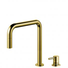 Miscelatore Cucina Oro/Dorato/Ottone Tubo estraibile / Corpo/Tubature Separate - Nivito RH-340-VI