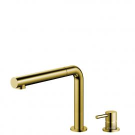 Miscelatore Cucina Oro/Dorato/Ottone Tubo estraibile / Corpo/Tubature Separate - Nivito RH-640-VI